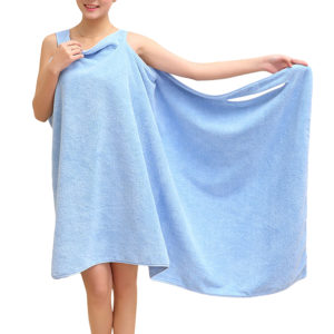 Honana BX-949 Summer Microfiber Soft Beach Able Wear Spa Bath Robe Plush Highly Absorbent Bath Towel Skirt