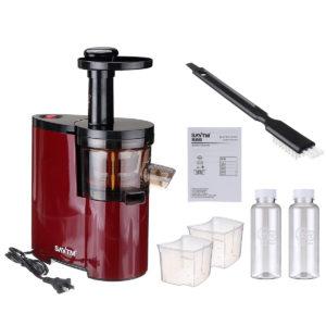 SAVTM Electric Slow Juicer 150W Electric Blender Fruits Vegetables Low Speed Juice Maker Extractor