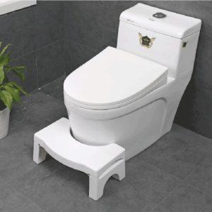 Halkfri toalettfotpall Vit Vikning Ergonomisk hemmabruk Avtagbar plasttoalett Hjulstol