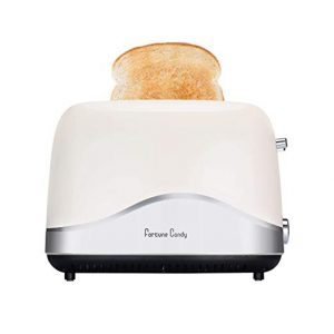 Fortune Candy 120V 850W Brödrost 2 skiva rostfritt stål rostade bröd med höglyft spak Brett bröd brödrost med pop-up och justerbar temperaturkontroll USA-kontakt