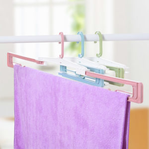Folding Hanger Cloth Racks Portable Travel Hanger Racks Plastic Drying Racks