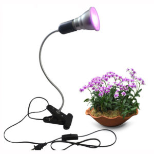 7W LED Growing Light Desk Clip 360 Flexible Adjustable Gooseneck Growth Lamp Indoor Greenhouse Plants Vegetables