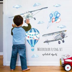 Miico HM71008 Barnens sovrumsväggklistermärke Dekorativa klistermärken DIY-klistermärken