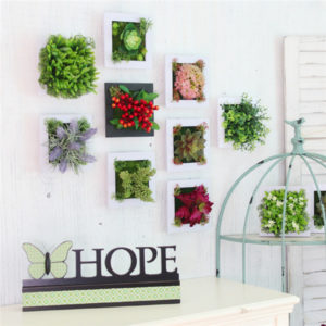 3D Artificial Plant Simulation Flower Frame Wall Decor Home Garden Wall Hanging Flower