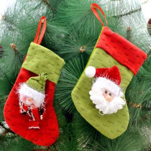 1PC Christmas Stocking Filler Pants Treat Gift Sack Bag