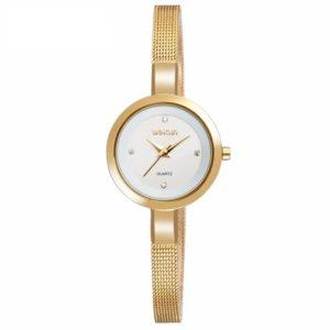 WEIQIN W4807 Damkläder för kvinnor lyxarmband Crystal Diamond Fashion Mesh Strap Armbandsur