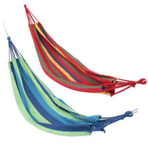 Dubbel stor gunga hängmatta kanfas Camping häng säng trädgård resor strand utomhus stol