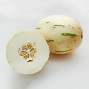 Egrow 20 st / paket vitt muskmelonfrön söt melon fruktgrönsak för trädgårdsväxt
