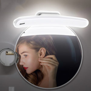 Baseus LED Mirror Light Adjustable Makeup Mirror Lamp USB Rechargeable Wall Light for Bathroom Bedroom Dressing Table Lights from Xiaomi Ecological Chain