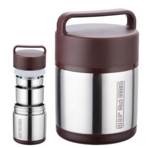 1,6L / 1,8L / 2L Vakuumisolerad Lunchbox Rostfritt stål burk varm kall termos matbehållare