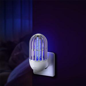 Baseus 2 i 1 Hem Elektrisk Myggdödslampa USB Uppladdningsbar Anti Myggfälla Insektsdödare för hem