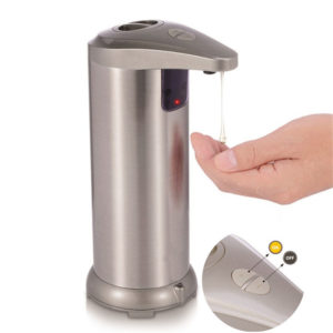 250ml Automatic Liquid Soap Dispenser Sensor non-contact Stainless Steel Hand Soap Bottle Dispenser for Kitchen bathroom