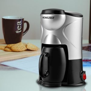 HOMEZEST 801 Portable Home Automatic Coffee Maker with Ceramic Cup 220V Coffee Machine