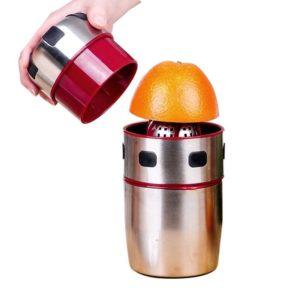 Kraftfull rostfritt stål Orange Juicer Portabel manuell lock Rotation Citrus Juicer Citron Orange Tangerine Juice Squeezer