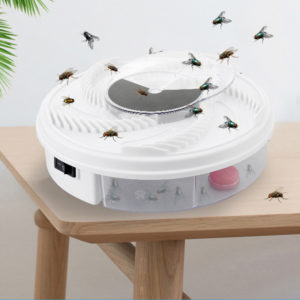 Electric Full-automatic Fly Trap Device Insect Catcher Low Noise Rotating Pest Repellent