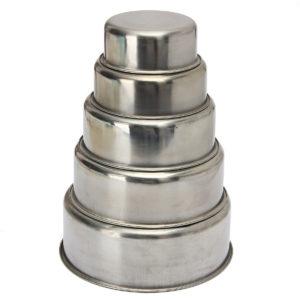 5 STK rostfritt stål matbehållare skålar Crisper lunchbox kök matbehållare
