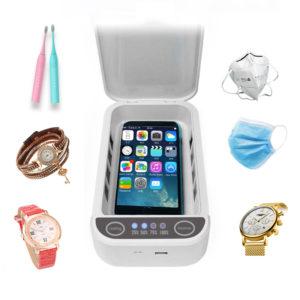 Bakeey DS01 Multifunktion Dubbel UV-telefonur Desinfektion Sterilisator Box Ansiktsmask Smycken Renare med aromaterapi