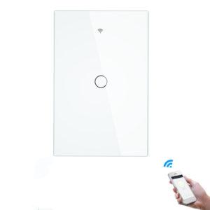 Bakeey 10A RF433 WIFI Smart Home Wall Touch Switch 1/2/3 Gang US-typ härdat glas APP Fjärrkontroll Arbetar med Amazon Alexa