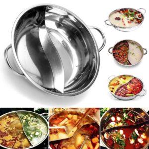 38 cm tjockt rostfritt stål varmgryta två-smaker induktion spis kök köksredskap
