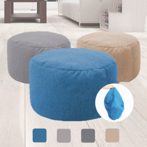 20*32cm Bean Bag Footool Cover Indoor for Adults Kids Multicolor Lazy Sofa