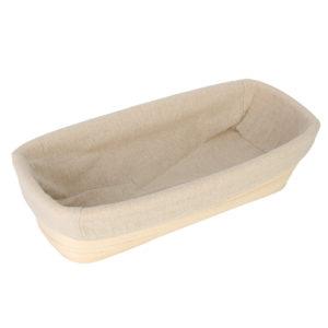 12 Inch Oval Banneton Brotform Rattan Basket Bread Dough Proofing Rising Basket Liner