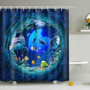 150 x 180 cm trästruktur med 10 krokar vattentäta gardiner på badrummet