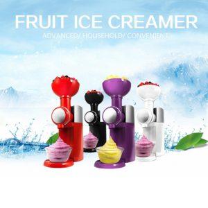 Automatisk Mini Hushålls fruktglassmaskin Fryst frukt Dessertillverkare Maskin DIY Fryst Yoghurt Maker