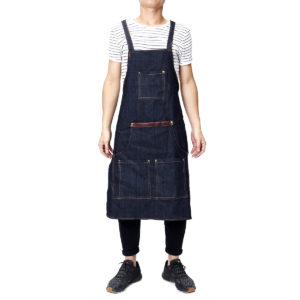 Men Ladies Denim Apron Bib Pocket Jeans Cafe Kitchen Cook Adjustable Uniform Kitchen Aprons