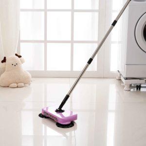 Spin Hand Push Sweeper Broom Hushållsgolvstoppsmopp utan elektricitet