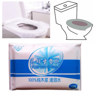 10Pcs Protable Toilet Seat Cover Closetool Biodegradable Sanitary Disposable Paper