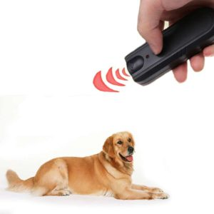Garden LED Ultrasonic Animal Repeller Dog Training Device Pet Anti Barking Stop Bark Trainer