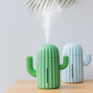 340ml Cactus Air Humidifier Three Colors Romantic Ultrasonic