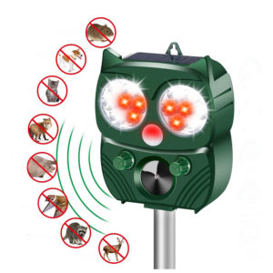 LyRay BR-902 Solar Power PIR Sensor Ultrasonic Animal Repeller IP64 Waterproof for Garden Outdoor Animals Birds Flashing Light Dispeller