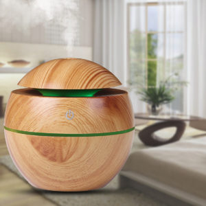 130ML LED Lights Wood Grain Aroma Air Humidifier