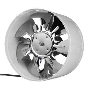 220V 4/6/8/10 Inch Inline Duct Fan Booster Avgasblåsare Luftkylning Vent Vit