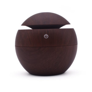 130ml Portable Round USB Air Humidifier Ultrasonic Aroma Diffuser Mist Maker with LED Night Light for Car Home Office