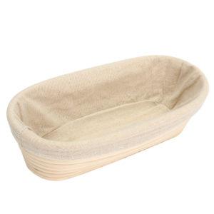 28cm Brotform Banneton Rattan Basket Oval Long Bread Dough Proofing Loaf Proving