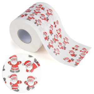 Santa Claus Printed Merry Christmas Toilet Roll Paper Tissue Table Home Decorations