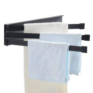 180° Towel Rack Hardware Rotating Accessory Bathroom Organizer Folding Towel Holder