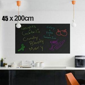 45x200cm Väggklistermärken Avtagbara Blackboard Barnrum Dekor Tavla Klistermärke DIY dekal tapeter