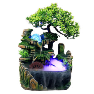 LED Desktop Mini Harts Rockery Garden Landscape Decor