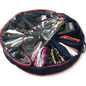 12-grid Transparent Multi-function Round Storage Shoe Bag