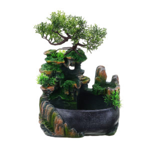 LED Desktop Mini Harts Rockery Garden Landscape Fountain