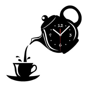 Emoyo ECY018 DIY Creative Teapot Head Wall Clock Animal Wall Clock For Home Office Decorations