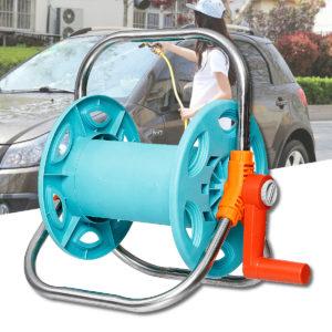 Portable Outdoor Garden Water Pipe Hose Reel Cart Storage Holder Hose Reel Caddy Organizer