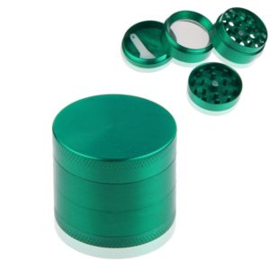 4 Layer Alloy Herb Grinders Green Tobacco Crusher Hand Muller Grinder