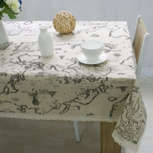World Map Tablecloth High Quality Lace Tablecloth Decorative Elegant Tablecloth Linen Table Cover