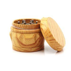 50x44mm Grinding Machine Resin Drum-shaped Lighter Imitation Wood Grain Herb Grinder