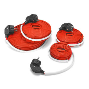 400W 240W 160W 80W Electric Heating Cable Wire Flexible Water Pipe Freeze Proof Heated Tape EU Plug