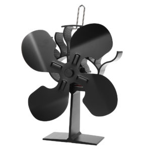 4 Blades Fireplace Stove Fan Low Noise Heat Powered Wood Log Burner Fuel Saving Ecofan